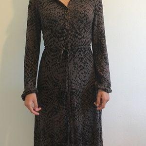 Velvet Brand Animal Print Midi Dress